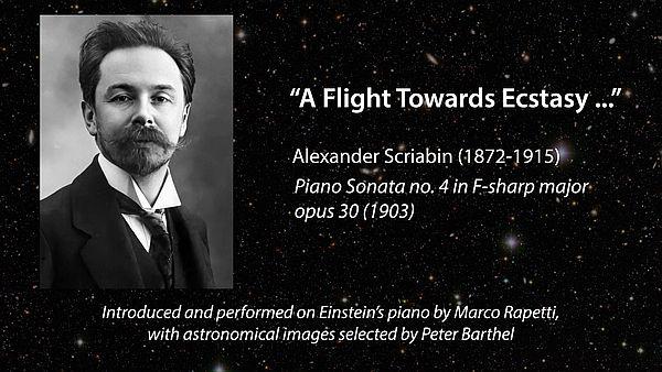 Scriabin's Ecstasy Flight